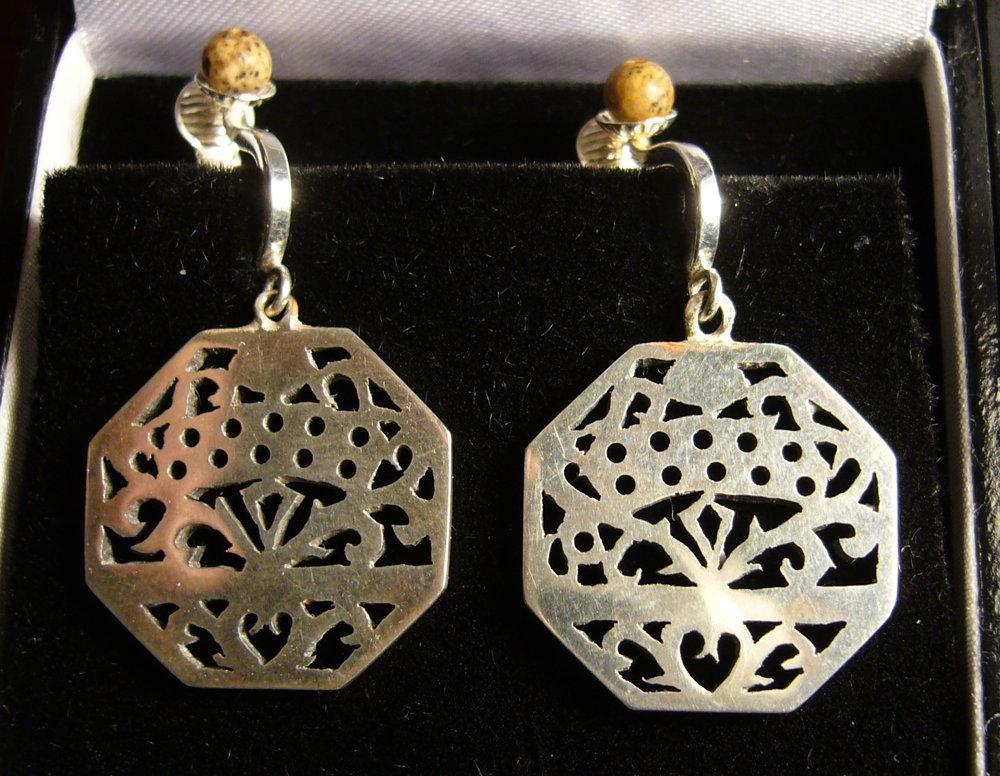 Octagonal Anglo Earrings