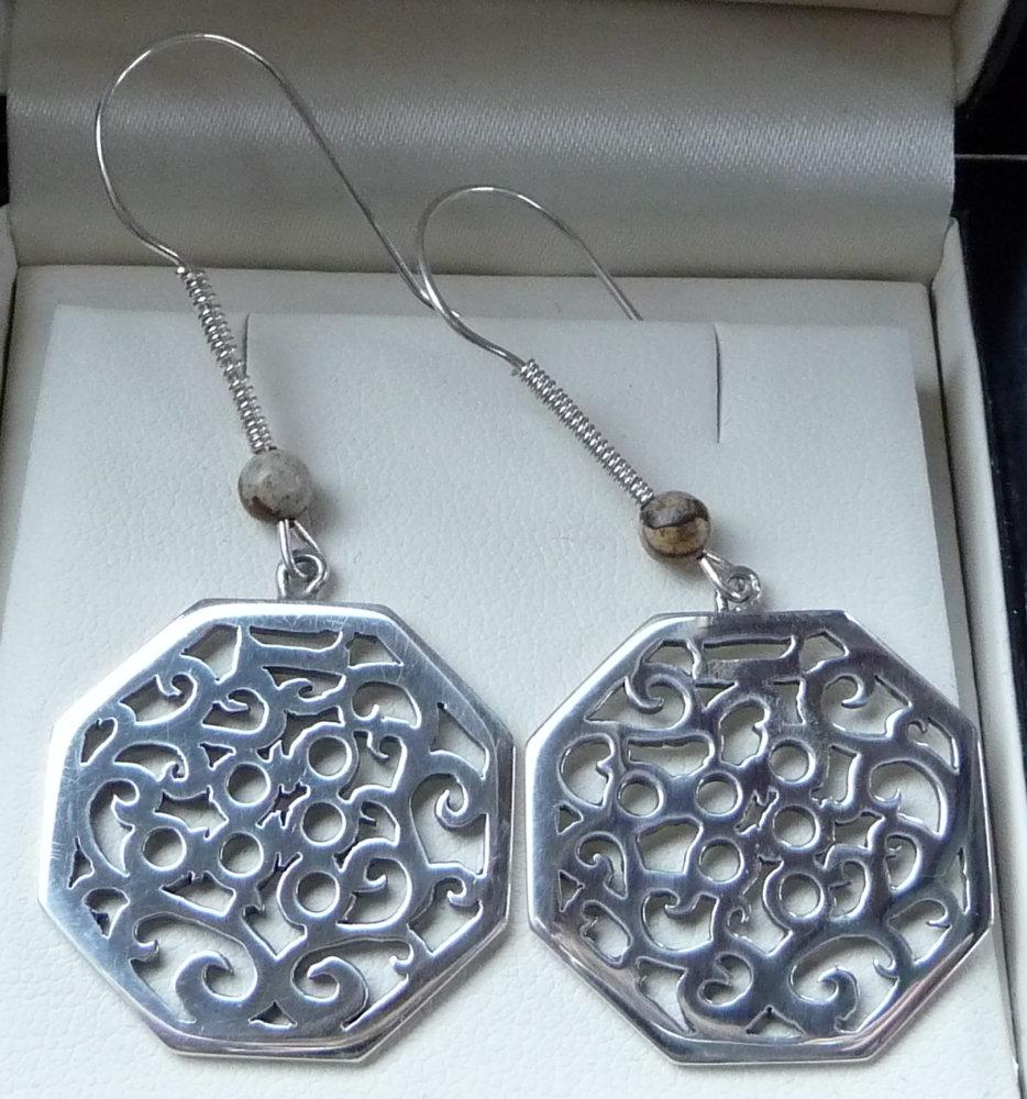 Octagonal English Earrings